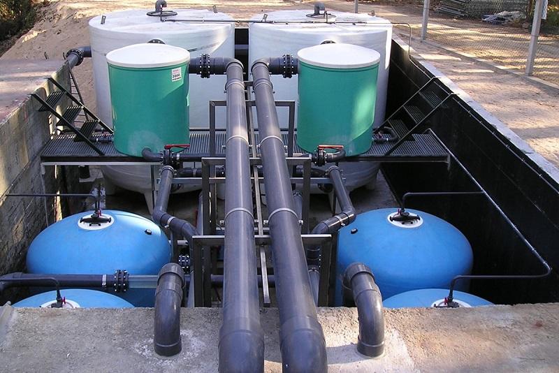instalación de filtros para estación de filtrado - amezcua